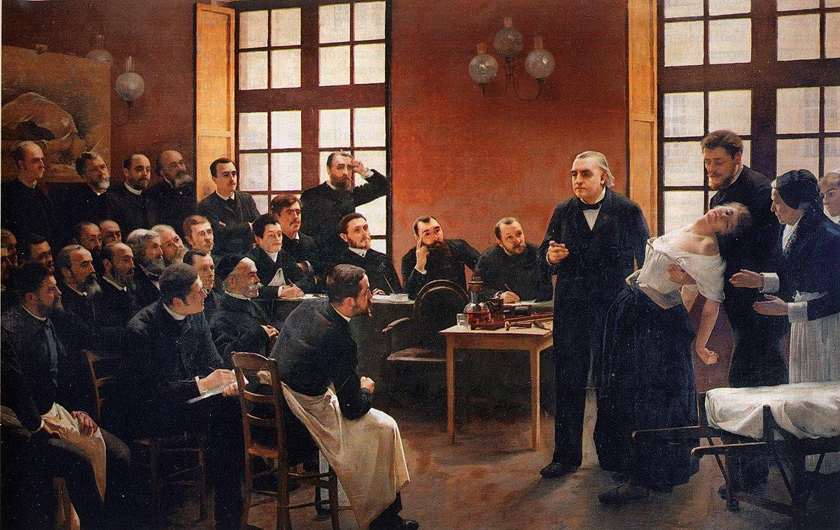 A clinical lesson at the Salpêtrière